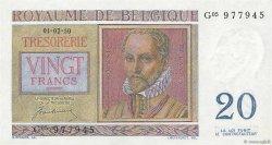 20 Francs BELGIQUE  1950 P.132a NEUF