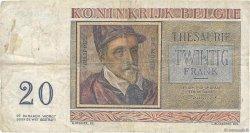20 Francs BELGIQUE  1956 P.132b TB