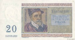 20 Francs BELGIQUE  1956 P.132b TTB