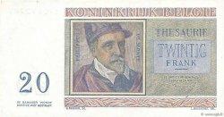 20 Francs BELGIQUE  1956 P.132b SUP