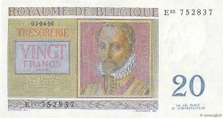 20 Francs BELGIQUE  1956 P.132b SPL
