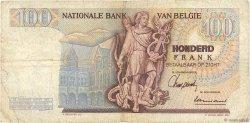 100 Francs BELGIQUE  1962 P.134a TB