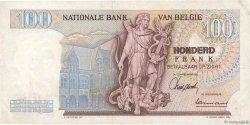 100 Francs BELGIQUE  1962 P.134a TTB