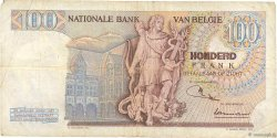 100 Francs BELGIQUE  1968 P.134a TB