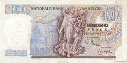 100 Francs BELGIQUE  1971 P.134b TB