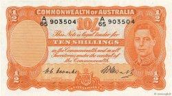 10 Shillings AUSTRALIE  1949 P.25c pr.SUP