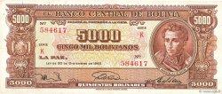 5000 Bolivianos BOLIVIE  1945 P.145 TTB