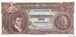 20 Pesos Oro COLOMBIE  1960 P.401b pr.NEUF