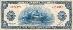 2,5 Gulden ANTILLES NÉERLANDAISES  1955 P.A01a TB+