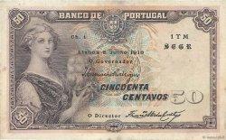 50 Centavos PORTUGAL  1918 P.112b pr.TTB