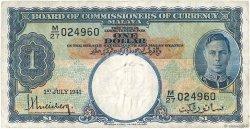 1 Dollar MALAYA  1941 P.11 TB