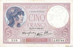 5 Francs VIOLET modifié FRANCE  1939 F.04.09 pr.SPL