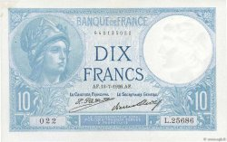 10 Francs MINERVE FRANCE  1926 F.06.11 pr.SUP