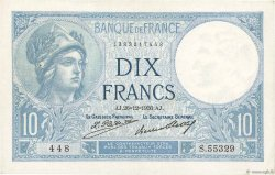 10 Francs MINERVE FRANCE  1930 F.06.14 pr.SUP