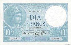 10 Francs MINERVE modifié FRANCE  1939 F.07.12 pr.SUP