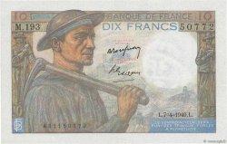 10 Francs MINEUR FRANCE  1949 F.08.21 SUP+