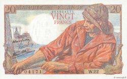 20 Francs PÊCHEUR FRANCE  1942 F.13.02 SUP
