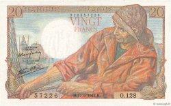 20 Francs PÊCHEUR FRANCE  1944 F.13.09 NEUF
