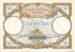 50 Francs LUC OLIVIER MERSON type modifié FRANCE  1930 F.16.01 pr.TTB
