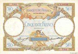 50 Francs LUC OLIVIER MERSON type modifié FRANCE  1933 F.16.04 pr.SUP