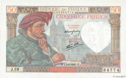 50 Francs JACQUES CŒUR FRANCE  1941 F.19.08 pr.NEUF