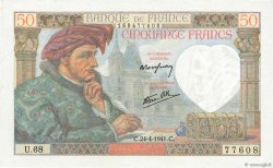 50 Francs JACQUES CŒUR FRANCE  1941 F.19.09 pr.NEUF