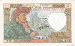50 Francs JACQUES CŒUR FRANCE  1941 F.19.12 pr.NEUF