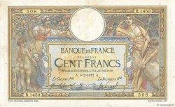 100 Francs LUC OLIVIER MERSON sans LOM FRANCE  1912 F.23.04 pr.TTB