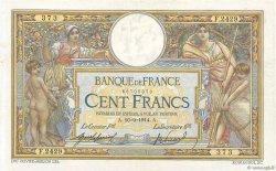 100 Francs LUC OLIVIER MERSON sans LOM FRANCE  1914 F.23.06 TTB