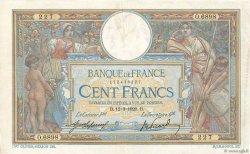 100 Francs LUC OLIVIER MERSON sans LOM FRANCE  1920 F.23.12 pr.TTB