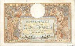 100 Francs LUC OLIVIER MERSON type modifié FRANCE  1937 F.25.01 TB