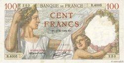 100 Francs SULLY FRANCE  1939 F.26.13 TTB+
