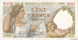 100 Francs SULLY FRANCE  1939 F.26.14 TTB+