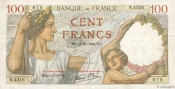 100 Francs SULLY FRANCE  1939 F.26.15 TTB