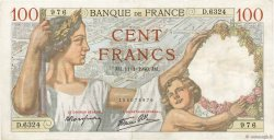 100 Francs SULLY FRANCE  1940 F.26.20 TTB