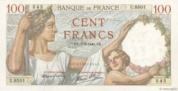 100 Francs SULLY FRANCE  1940 F.26.24 SPL