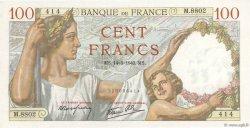 100 Francs SULLY FRANCE  1940 F.26.25 SPL+