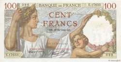 100 Francs SULLY FRANCE  1940 F.26.43 pr.SPL