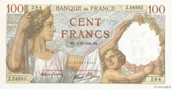 100 Francs SULLY FRANCE  1941 F.26.58 NEUF
