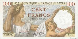 100 Francs SULLY FRANCE  1941 F.26.60 NEUF