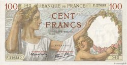 100 Francs SULLY FRANCE  1942 F.26.64 TTB