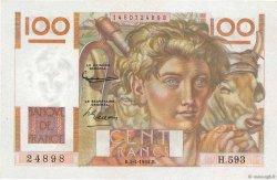 100 Francs JEUNE PAYSAN FRANCE  1954 F.28.43 SPL