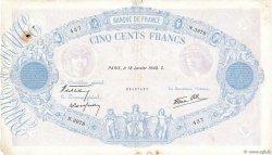 500 Francs BLEU ET ROSE modifié FRANCE  1940 F.31.57 pr.TB