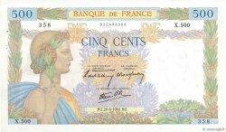 500 Francs LA PAIX FRANCE  1940 F.32.03 pr.SUP