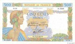 500 Francs LA PAIX FRANCE  1940 F.32.11 SUP