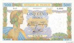 500 Francs LA PAIX FRANCE  1941 F.32.13 pr.NEUF