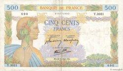 500 Francs LA PAIX FRANCE  1941 F.32.17 TB+