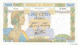 500 Francs LA PAIX FRANCE  1941 F.32.18 SUP