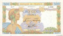 500 Francs LA PAIX FRANCE  1941 F.32.21 TB+