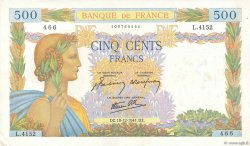 500 Francs LA PAIX FRANCE  1941 F.32.25 SUP